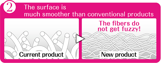 2 The surface is much smoother than conventional products!non-fluffy!